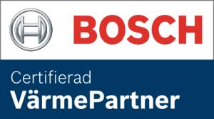 24 RÖR är certifierad värmepartner till Bosch